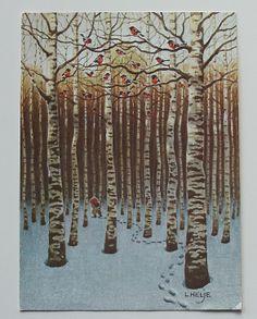 Lennart Helje.  The birds in the birch trees look like cedar wax wings like we have here.