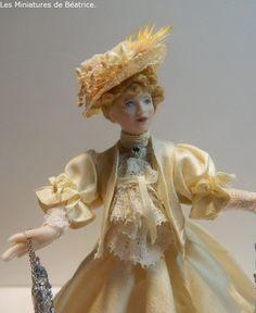 Madeleine , Les Miniatures de Béatrice. Porcelain, Victorian, Dolls, Dresses, Fashion, Madeleine, Miniature Dolls, Baby Dolls, Vestidos