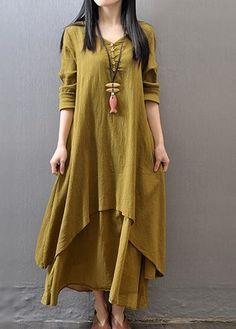Long Sleeve Loose Fit Maxi Dress
