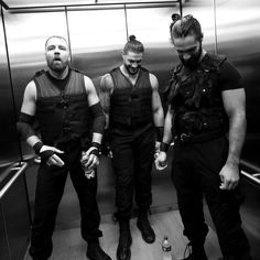 Walk with The Hounds of Justice in the bitter-sweet last moments before Universal Champion Seth Rollins, Roman Reigns & Dean Ambrose join forces in The Shield's Final Chapter, a WWE Network special event. Photography by Eric Johnson Eric Johnson, Wwe Roman Reigns, Wwe Superstar Roman Reigns, Seth Rollins, Roman Reigns Dean Ambrose, Wwe Dean Ambrose, Wonder Twins, Wwe Pictures, The Shield Wwe