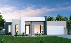 House and Land in Coffs Harbour Flat Roof House, Facade House, House Front, Modern House Facades, Modern House Plans, Small House Design, Modern House Design, Exterior House Colors, Exterior Design