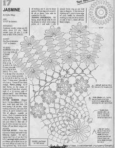 Crochet Knitting Handicraft: lace tablecloth