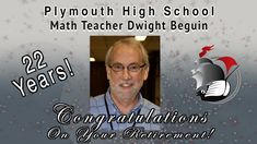 After 22 years of crunching numbers with high school students, PHS math teacher Dwight Beguin retired officially on June 4, of last year, right after the 2018-19 school year wrapped up. Which means we are highlighting Mr. Beguin's career this year! Visit his retirement bio by clicking on this congratulatory graphic! #PCSCweCARE