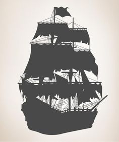 Set sail on any living space wall with this adventurous pirate ship wall decal. Order a pirate ship silhouette wall sticker from StickerBrand today!
