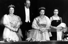 March 1956: The tiara accompanies Elizabeth, her mother, and her sister to the ballet at Covent Garden. February 1952: George VI dies, and his daughter becomes Queen Elizabeth II. As queen, the tiara becomes something of a trademark piece for her. She wears it in portraits that appear on currency and stamps in the United Kingdom and throughout the Commonwealth.