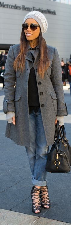 MaxMara jacket, Theory sweater, Saks off 5th jeans