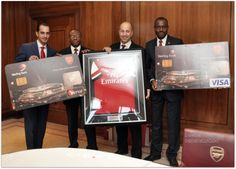 Sterling Bank Executives launch Debit Cards with Arsenal in London