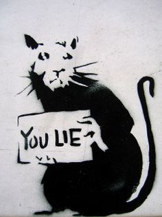 you lie - banksy by niznoz, via Flickr