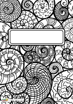 coloring book front cover coloring pages | 75 Best Binder Cover Coloring Pages for Adults images ...