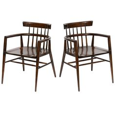 Pair of Paul McCobb Captain's Chairs | From a unique collection of antique and modern armchairs at http://www.1stdibs.com/furniture/seating/armchairs/