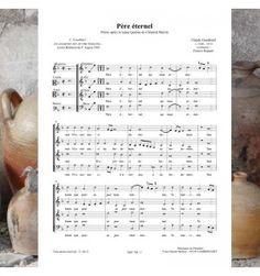 Claude GOUDIMEL / Clément MAROT : Père éternel - prière (pour avant le repas) à 4 voix mixtes a cappella - Musique publiée aux éditions Musiques en Flandres - référence MeF 768