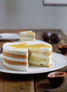 Light Cheese Cake with Passionfruit