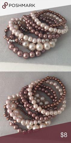 Pearl Bracelet Set Gently worn - may show signs of wear Jewelry Bracelets