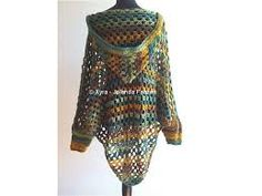 Bilderesultat for crochet poncho with sleeves
