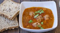Romanian Meatball Soup (Ciorba de Perisoare), and I am going to make this today. With the ice and snow moving in later, this should warm everyone heart. :)