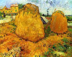 Vincent Van Gogh - Haystacks in Provence, 1888.