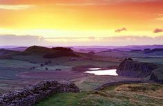 Hadrian's Wall was built in Roman times to protect the edge of the empire from the barbarians in the north. Or was it simply built to show off Roman power?
