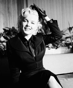 "beauvelvet: Marilyn Monroe during a press conference on her return to Hollywood after more than a year's exile in New York City, 1956: ""Is this the new Marilyn?"" Marilyn replied: ""No, I'm the same..."