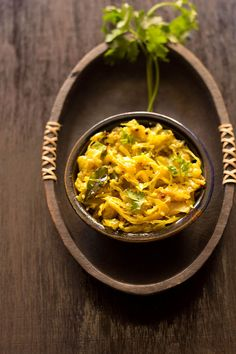 Cabbage Thoran or Cabbage Stir Fry from Kerala Cuisine - a dry curry made with cabbage, coconut and spices.