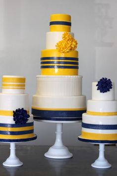 Blue and yellow cakes!
