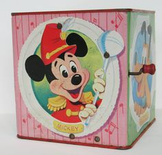 Walt Disney Mickey Mouse Jack in the Box by FindingMaineVintage
