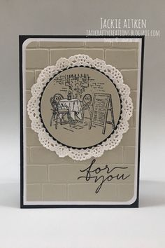 LOVE LOVE LOVE TheMediterranean Moments stamp set, it was inspired by a Stampin' Up! Demonstrator Million Sales Achiever - Susan Nygaard. ...