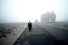 """""""Nothing left to see"""" Salford, Manchester, England, clearance demolished the houses, but left the pub standing.Photograph by John Bulmer for a feature in Geo magazine. A Level Photography, Color Photography, Film Photography, Street Photography, Landscape Photography, Narrative Photography, Urban Photography, White Photography, Nature Photography"""