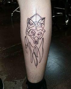 E este lobo:   16 tatuagens que passam sua mensagem com um só traço