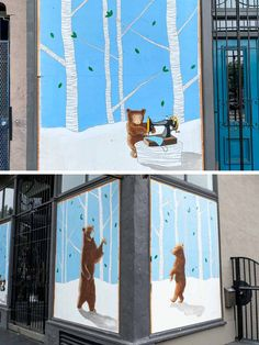 An movement is afoot in San Francisco California bringing beautiful street art to deserted city streets. Check out these murals in SF to see lovely public art. Blue bear mural by Nicole Hayden Tour Around The World, Scale Art, Beautiful Streets, San Francisco California, City Streets, Art Festival, Local Artists, Public Art, Urban Art