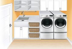 The Beauty of a Utility Room – House Viral Gossip Basement Laundry, Laundry In Bathroom, Basement Bathroom, Small Bathroom, Laundry Room Layouts, Laundry Room Organization, Laundry Room Design, Interior Design Living Room, Living Room Designs