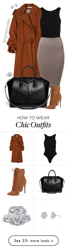 A fashion look from October 2016 featuring marni coat, cotton jersey and pointed toe lace up booties. Browse and shop related looks. Office Outfits, New Outfits, Work Outfits, Classy Outfits, Chic Outfits, Business Fashion, Business Style, Complete Outfits, Fashion Killa
