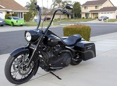 2007 Road King - custom apes like Carlini gansters. La Pera villian seat.