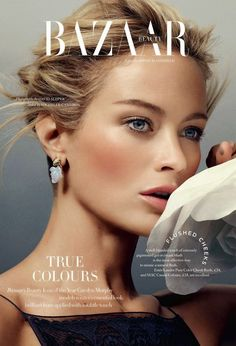 Best Cover Magazine - Carolyn Murphy for Harper's Bazaar UK December 2014 - CoDesign Magazine Carolyn Murphy, Bb Beauty, Beauty Shoot, Beauty Makeup, Fashion Magazine Cover, Fashion Cover, Magazine Covers, Makeup Photography, Fashion Photography