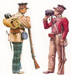Scottish soldiers in India Military Art, Military History, Military Uniforms, British Uniforms, Uk History, British Colonial, Napoleonic Wars, British Army, Victorian Era