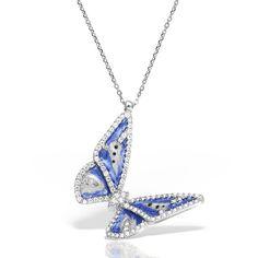Colier argint cu pietre 42 cm Fluture - MCN0028 Diamond, Jewelry, Necklaces, Jewlery, Jewerly, Schmuck, Diamonds, Jewels, Jewelery