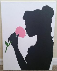 Belle Silhouette Painting by FableArts on Etsy