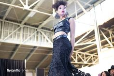 Shades Company: Jewel Applique leather top with Burnout maxi skirt on etsy #shadescompany #queerfashionweek