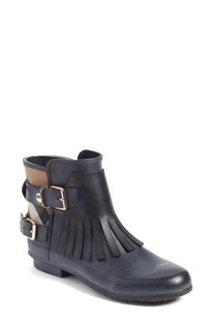 BURBERRY WOMEN'S BURBERRY FRINGE SHORT RAIN BOOTIE. #burberry #shoes #