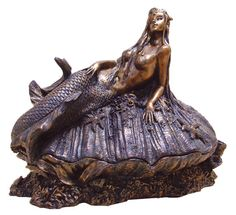 Mermaid Jewelry Box by maryberard on Etsy,