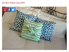 Directions: Place the pillow in the center of the fabric and start wrapping around, lengthwise. Fold the sides of the material around the pillow in 2 layers triangles and overlap them over the pillow. Then, tie them to a knot and try to hide the ends inside. The result is an elegant and stylish pillow. Enjoy!