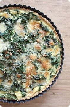 Swiss chard and leek quiche recipe