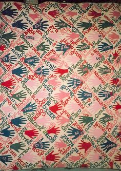 'Hand' quilt by Margaret Culp Blosser, dated 1901