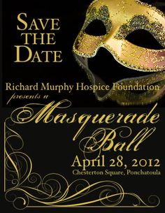 Masquerade Ball Save The Date