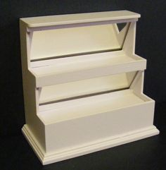 1:12 Scale White Painted Stepped Display Doll House Miniature Shop Accessory 509