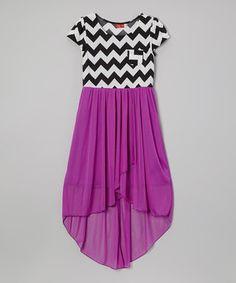 Look what I found on #zulily! Mauve Zigzag Hi-Low Dress by Ruby Rox #zulilyfinds