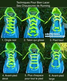 I Like Running - Running shoe lacing techniques. great tips for runners. Couple Shoes, Shoe Lacing Techniques, Gas Pumps, Useful Life Hacks, Running Tips, Running Training, Running Schedule, Running Plan, Start Running