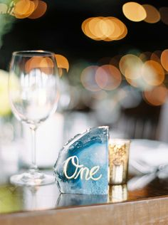 This couple hosted a chic spring celebration with a laid-back ambiance. Wedding Table Numbers, Vineyard Wedding, Real Weddings, Alcoholic Drinks, Reception, Table Decorations, Table Numbers, Alcoholic Beverages, Receptions