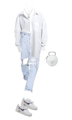 A fashion look from March 2018 featuring white handbag, cropped shirts and bunny necklace. Browse and shop related looks. Kpop Fashion Outfits, Tomboy Fashion, Edgy Outfits, Swag Outfits, Retro Outfits, Grunge Outfits, Cute Casual Outfits, Look Fashion, Streetwear Fashion