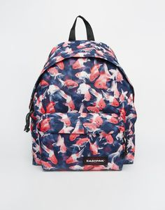 Image 1 of Eastpak Padded Pak r with Fish Print