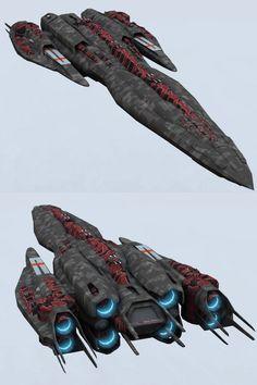 Battlecarrier Concept by DevilDalek
